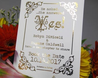 Library card save the date | Etsy