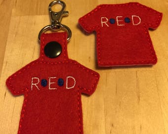 R.E.D. Shirt Keyfob or Magnet - Remember Everyone Deployed