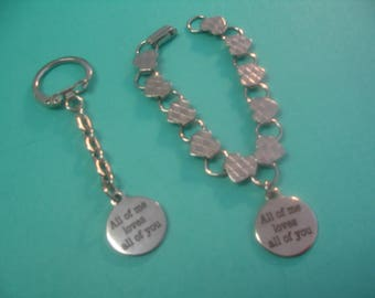 Couples Bracelet and Keychain All of Me Loves All of You Jewelry Gift
