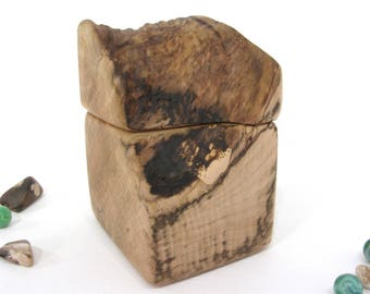 Oregon Coast Maple Burl Box, cremation urn, pet urn, wood art, anniversary, retirement gift, wooden jewelry box, outdoorsy gift