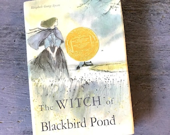 vintage children's book - The Witch of Blackbird Pond - Elizabeth George Speare 1958