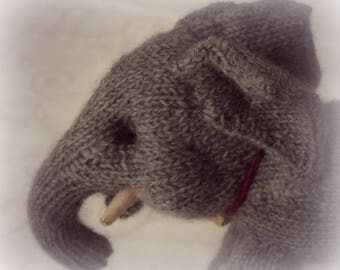Baby Elephant Knitted Toy