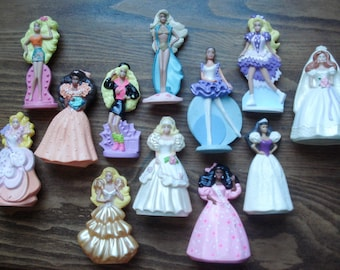 Vintage collectible Barbies - set of 12 - 1990s McDonald's - for display