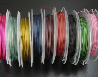 CLEARANCE Craft Wire 1 Spool Craft Artistic Wire Tiger Tail 0.38mm thick, 10m long COLOR CHOICE (1013wir10-02)os