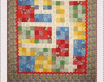 Crossword Quilt & Puzzle Pillow by Seams and Dreams - Quilt Pattern