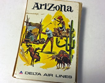 1960's Delta Airlines Playing Cards - Arizona