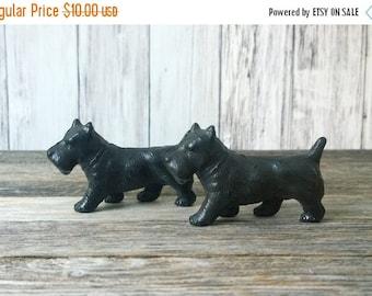 SALE Black Scottie Dogs Black dogs Dog figurines set of dogs small dogs vintage dogs Japan