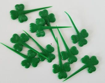 Vintage Shamrock St. Patrick's Day Party Picks Set of 10