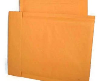 Bubble Mailer 100 pack - gold, size 0 or approx 6x10 - small, padded envelopes, shipping, mailing, shop supplies, self sealing, kraft paper