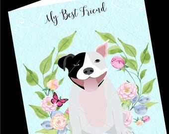 Dog Greeting Card-Pit Bull-All Occasion