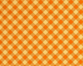 FABRIC Fat Quarter GINGHAM Bee Basics ORANGE check   Fat Quarter    We combine shipping