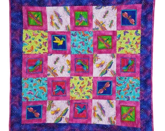 Wall Hanging Quilt in Laurel Burch Butterflies and Dragonflies