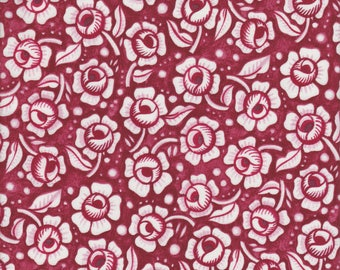 In The Beginning Fabrics Mooshka Roses in Red - Half Yard