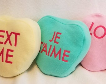 Conversation heart pillows...Price reduction!