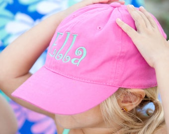 Kids Monogram Ball Cap~Youth Hat~Personalized Hat