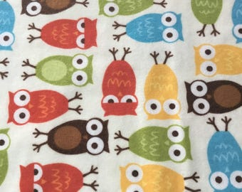 Owl Flannel Fabric