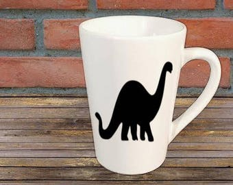 Dinosaur Dino Mug Coffee Cup Gift Home Decor Kitchen Bar Gift for Her Him Any Color Personalized Custom Jenuine Crafts