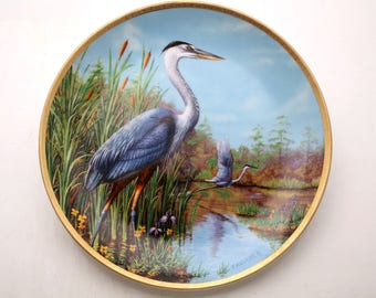 Vintage W.S. George Great Blue Heron Plate 2969