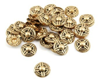 Domed Propeller Stampings in Antiqued Brass - 35 Pieces - Steampunk Air Ship Pirate, Airplane, Aviation, Aviator, Flight, Flying