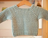 Crochet PATTERN  - River Coast Sweater (sizes baby up to 12years)