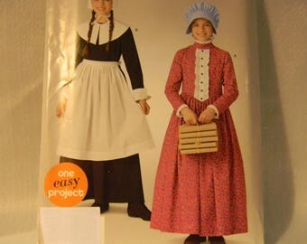 Uncut Simplicity Pattern 0901 Childs Pilgrim and Prairie Costume