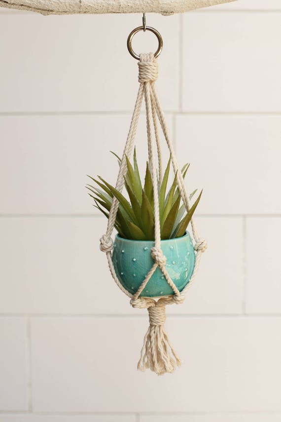 small macrame hanging planter