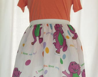 "Sweet Barney Ladies Skirt upcycled from vintage fabric - 31"" -36""waist"