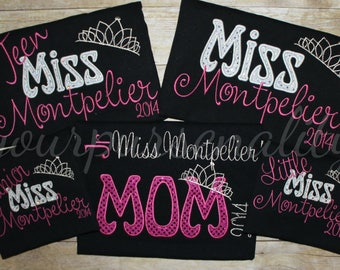Beauty pageant shirt -- princess shirt -- county fair pageant shirt -- pageant mom