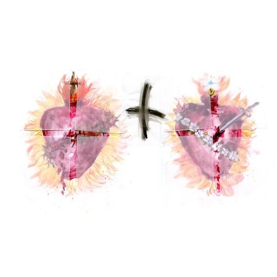 Sacred Hearts - fine art print