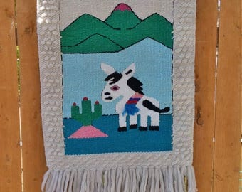 Vintage Donkey Wall Hanging | Woven Wall Hanging