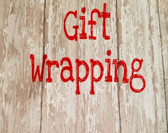 Gift Wrap Service, Gift Wrap Add On, Gift Wrap Option, Gift Wrapping, Gift Wrap, Christmas Wrapping, Add on Service, Wrapping Service