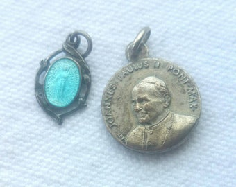 Two Vintage Catholic Pendants
