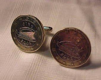 Ireland Coin Cuff Links