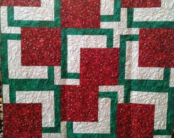 Festival Sale Almost Christmas 54 x 72 inch art quilt