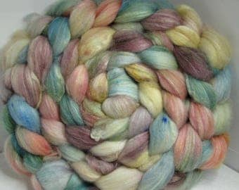 Sale Optim, Camel, Bombyx Silk 40/40/20 Roving Combed Top - 5oz - Soft Sea 2