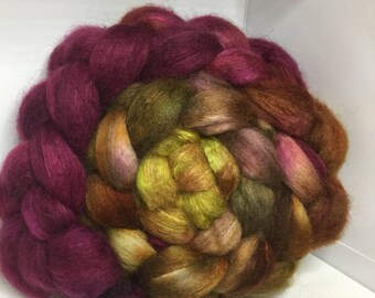 BFL Yak Bombyx Silk 50/25/25 Roving Combed Top - 5oz - Fig Tree 2