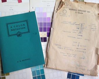 Vintage Munsell Color Notation Book 1954 with  Student Charts