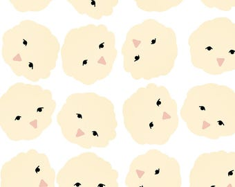 Chicks Fabric - Chicks In Yellowfluff By Laurenvalerie - Yellow Spring Chicks Nursery Decor Cotton Fabric By The Yard With Spoonflower
