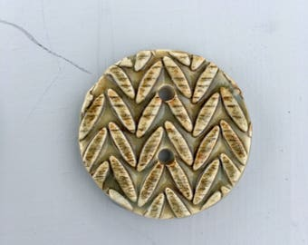 Knit Pattern - Ceramic Button