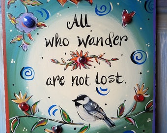 Tile, All who wander are not lost