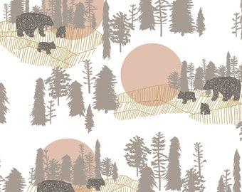 baby girl bedding- woodland crib sheet- bear baby bedding- fitted crib sheet / mini crib sheet/  changing pad cover- woodland crib bedding