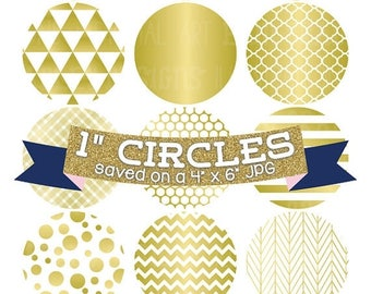 80% OFF SALE Gold Foil Digital Bottlecap Images Instant Download Bottle Cap Graphics Digital Collage Sheet One Inch Circles 4x6 JPG