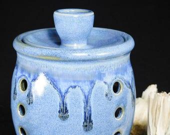 Garlic Keeper - Garlic Jar - Ceramic Garlic Jar - Jar For Garlic - Garlic Keeper Jar - Garlic Pottery Jar - Storage Garlic - In Stock
