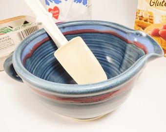 Ceramic Mixing Bowl - Bowl Batter - Gravy Boat - Handmade Mixing Bowl - Gravy Boat Ceramic - Prep Bowl - Ceramic Batter Bowl - In Stock