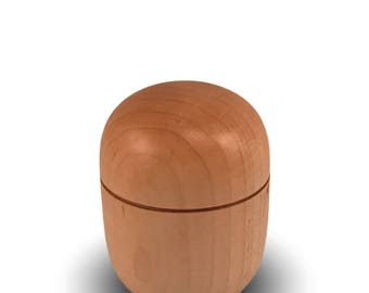 Handmade Wooden Box - Maple Wood - Woodturned Box