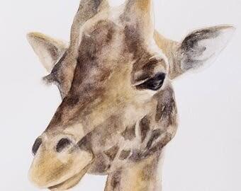 giraffe art print giraffe painting art print for nursery peek a boo animal print kids wall art SEE PHOTOS to view all 15 PRINTS 11x14
