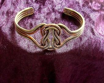 Copper Magnetic Arthritis Bracelet bangle cuff  celtic knot
