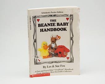 The Beanie Baby Handbook Scholastic Pocket Edition by Les and Sue Fox Collectors Reference Checklist Poem Stumpers Price Value Hunter's Tips