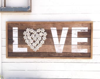 Love Sign, True Love, Vintage Style, Word Decor, I Love You, Romantic Sayings, Hapiness Sign