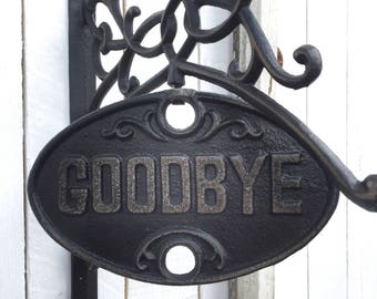 Welcome Sign, Housewarming Gift, Goodbye Sign
